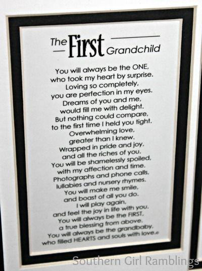 Grandchildren poems | First Grandchild Poem: