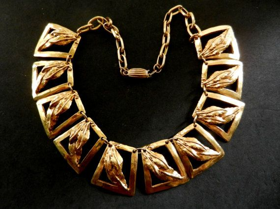 Smashing Art Deco Egyptian style rich golden brass by RAKcreations