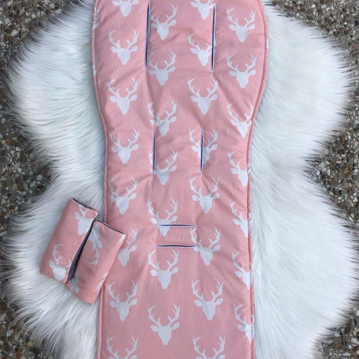 Buck / Deer, Pink Pram Liner
