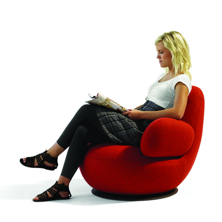 Oppo Swivel Armchair O52A Inhabits A Room Even When No One Is There. The  Soft