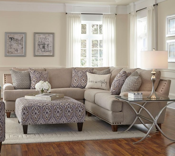 Franklin Julienne Sectional Sofa with Four Seats - Miskelly Furniture - Sectional  Sofas Jackson, Mississippi  Living Room ...