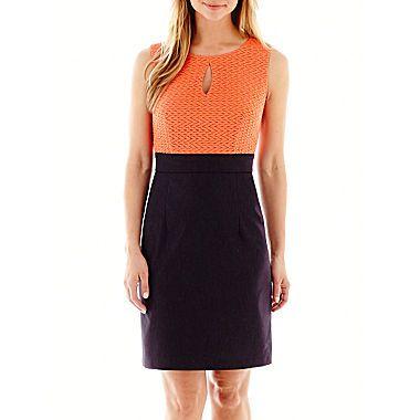 Alyx® Sleeveless Puckered Knit and Denim Dress