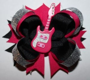 Guitar Rock Star Hair Bow