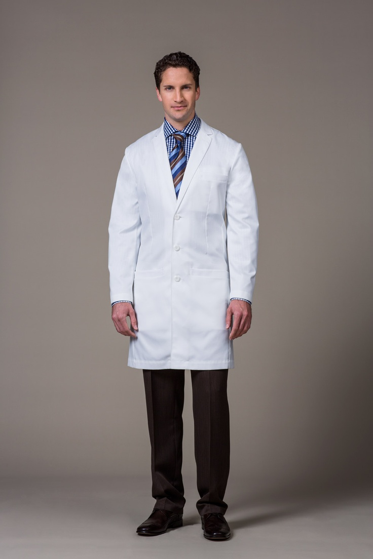 slim fit lab coat offers a sharp, modern and sophisticated fit. The perfect blend of slimming features with ergonomic shaping makes the E. Wilson our sharpest men's lab coat to date.  #Healthcare #Medelita #Labcoats #Uniforms #Fashion