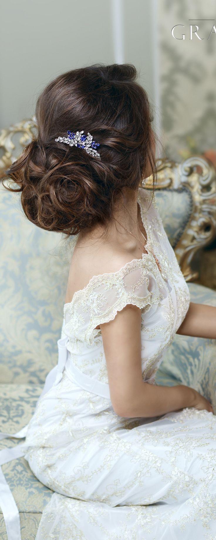 Bridal Hairstyles Inspiration Crystal Wedding Hair Comb Bridal