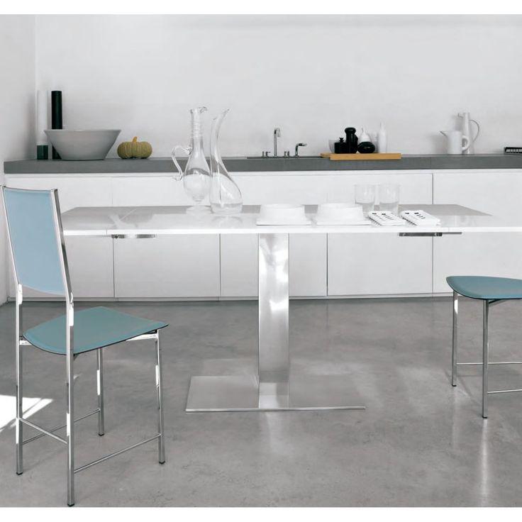 Mesa extensible elvis drive cattelan italia 5 mesas for Mesa rinconera cocina moderna