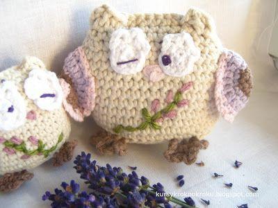 Anioły Anielki: Amigurumi czyli szydełkowe zabawki - lala, sówka i lavendka