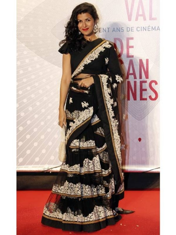 Nimrit Kaur, who is in Cannes to promote her film Lunchbox, was also at the gala dinner in Sabyasachi. Image courtesy: Reuters