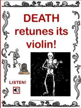 music lessons     Halloween     DANSE MACABRE PowerPoint with Audio Clips    #musiceducation. #elmused