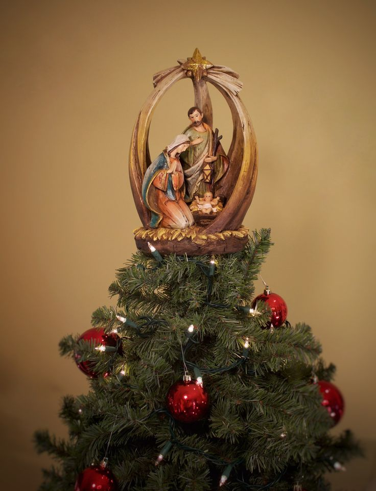Holy Family With Star Unique Tree Topper Summit Arbor