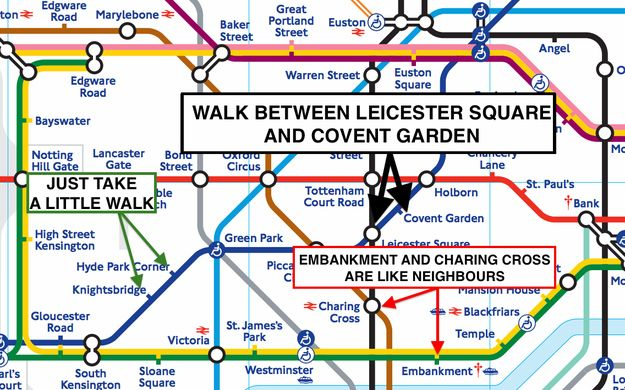 Know the distances between the tube stations. 8 Tube Hacks Every Londoner Needs To Know