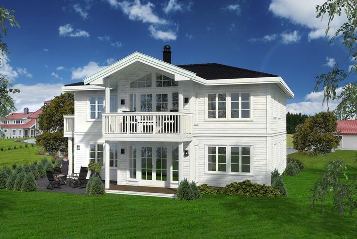 Majestetisk og flott hus inspirert av den herskapelige byvillaen.
