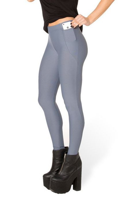 Matte Grey Pocket Leggings - LIMITED ($45AUD) by BlackMilk Clothing
