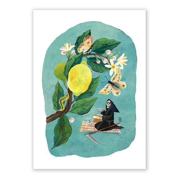 Tea Time / A4 Open edition giclée art print signed by by Vodarna