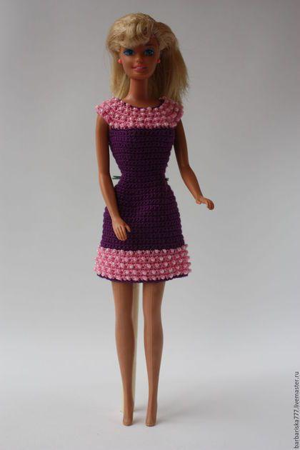 Одежда для кукол ручной работы. Ярмарка Мастеров - ручная работа. Купить платье с бисером. Handmade. Подарок, ручная работа, барби