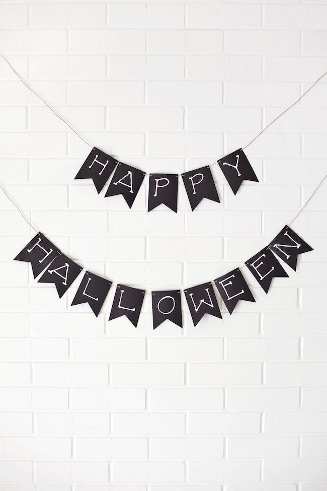Cómo hacer una guirnalda de cartulina para Halloween  #decoracion #halloween #diy