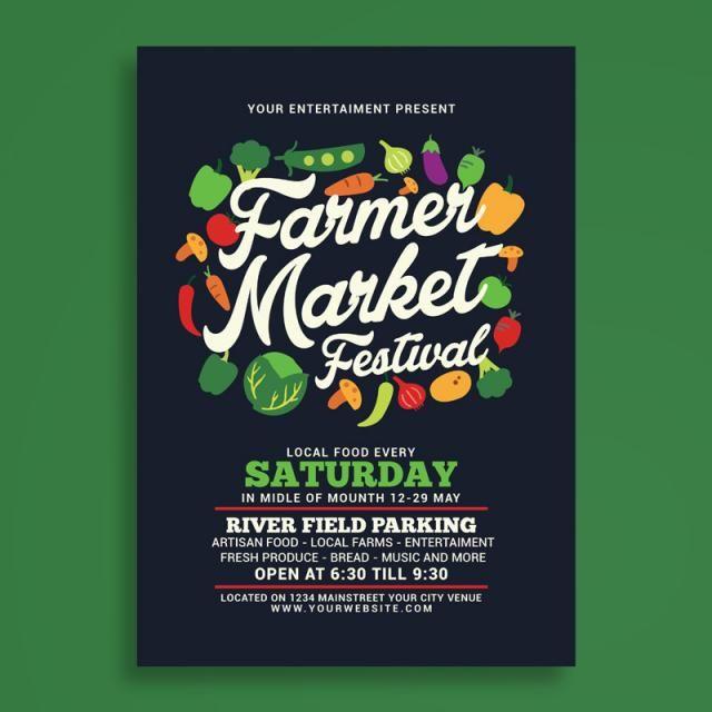 Farmer Market Festival Flyer Exhibition Poster Photography