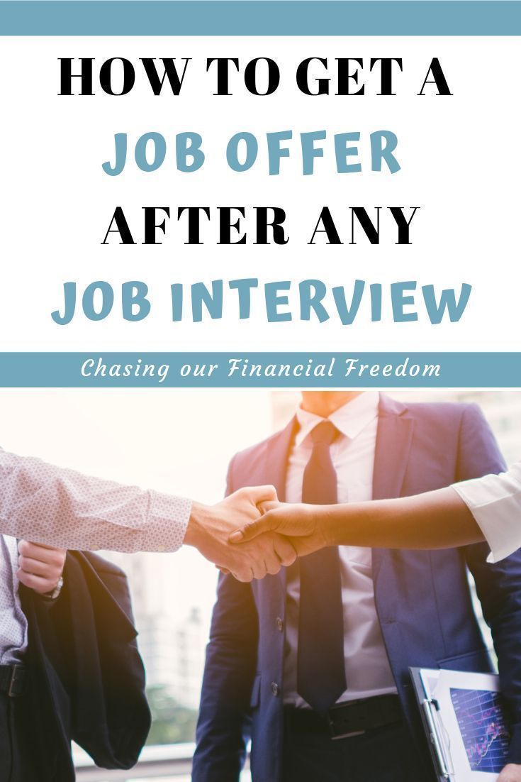 Get an offer after any job interview