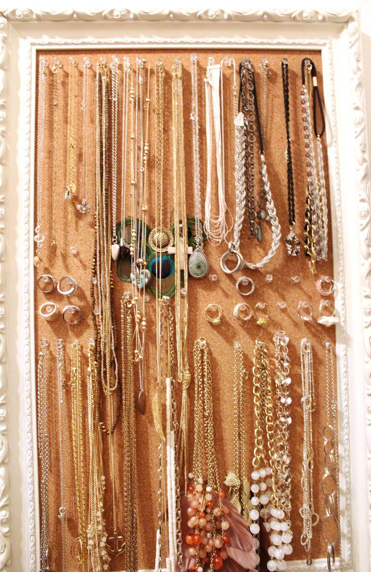 Jewelryanization With Cork Board And Push Pins