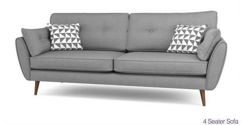 Zinc 4 Seater Sofa Zinc   DFS Ireland 1169
