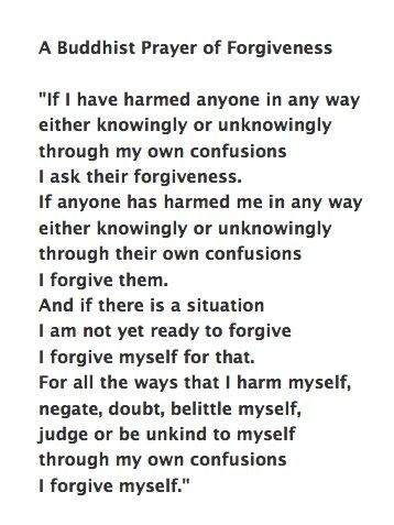 I forgive myself so I am then able to forgive others who have hurt me!