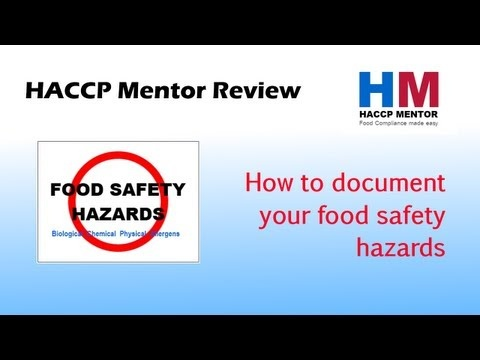 How to document your food safety hazards - Episode 2