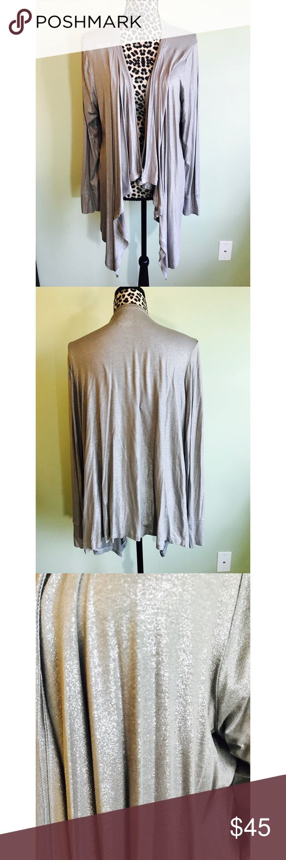 💕Shimmering silver cardigan NWOT NWOT Shimmering silver cardigan. Size 18/20. 95% rayon 5% spandex Lane Bryant Sweaters Cardigans