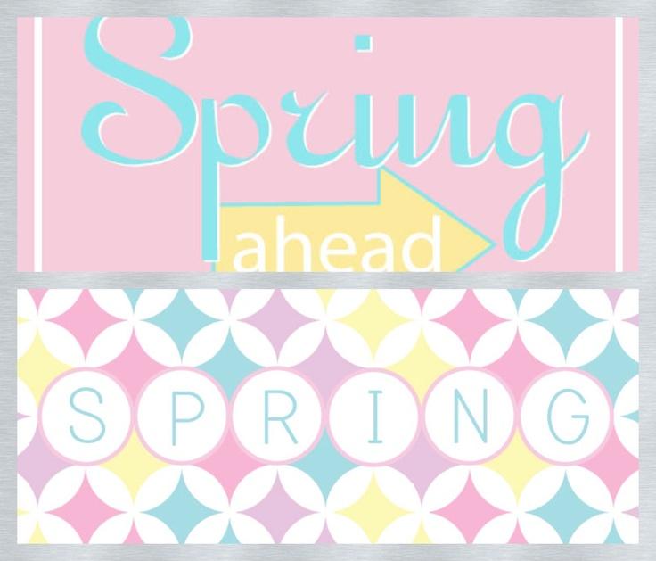 """de jolis imprimables sur le thème du printemps... """"petit plus"""" : en plus petit format, utilisez-les pour vos cartes, pages et autres créations..."""