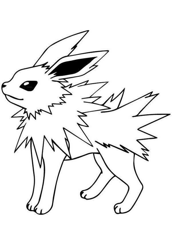Free Printable Pokemon Jolteon Coloring Pages Pokemon Coloring