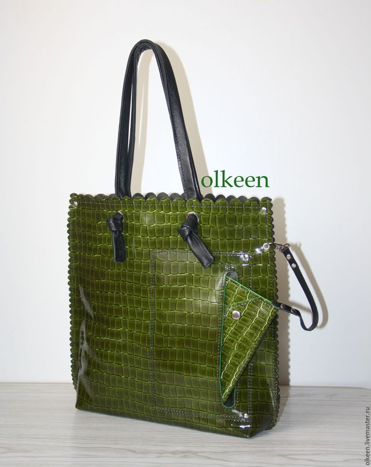 Купить Wave сумка-шопер - тёмно-синий, фуксия, зеленый цвет, сумка ручной работы