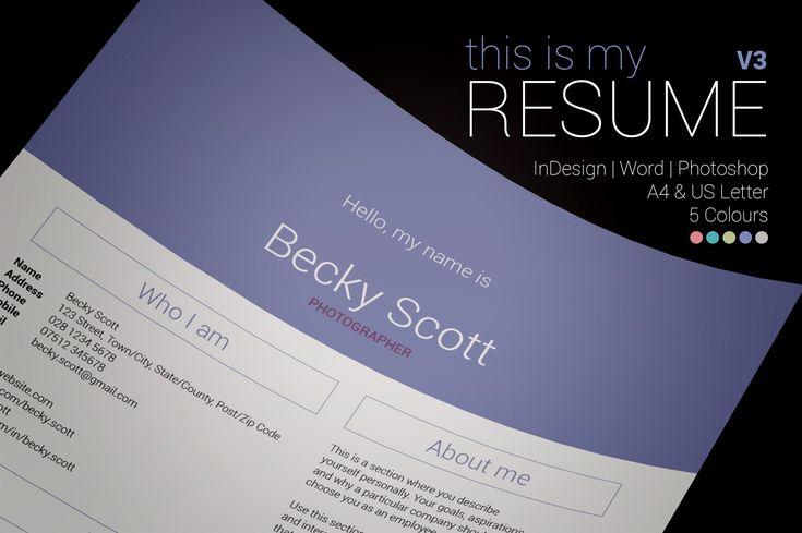My Resume V3 by bilmaw creative on @creativemarket #resume #cv #template