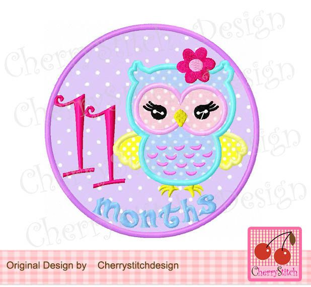 New Baby Baby 11 Months With Cute Girly Owl Baby 11th