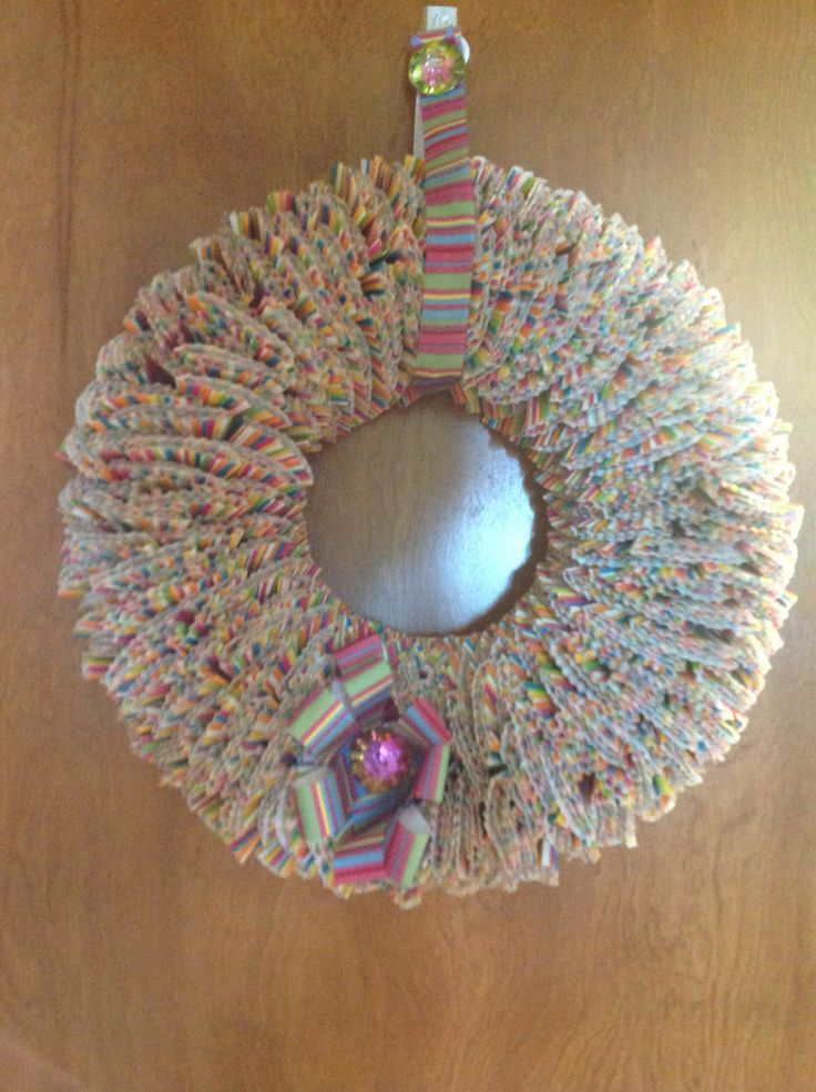Cupcake paper wreath Paper wreath, Craft projects, Crafts