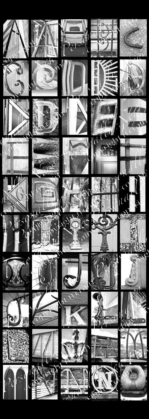 photo alphabet letter art black and white letter digital downloads