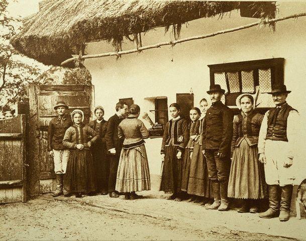 Béla Bartók Recording Songs in Transylvania