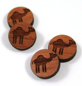 Laser Cut Supplies-8 Pieces.Camel Charms - Laser Cut Wood Camel -Earring Supplies- Little Laser Lab Sustainable Wood Products