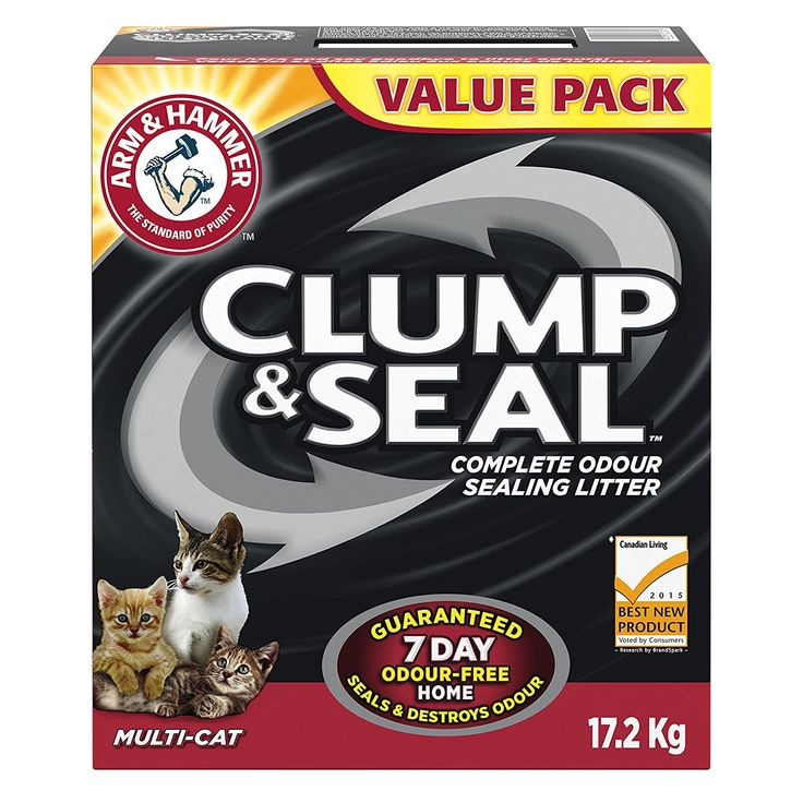 Arm & Hammer Cat Litter Clump and Seal Multi-Cat, 17.2 kg: Amazon.ca: Pet Supplies