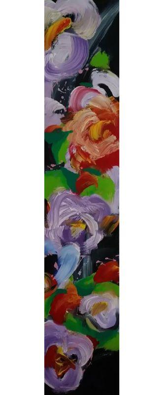 Floralies - acrylique sur toile (150x30cm) 2014