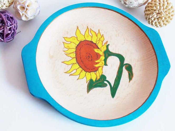 Farfurie lemn Sunflower