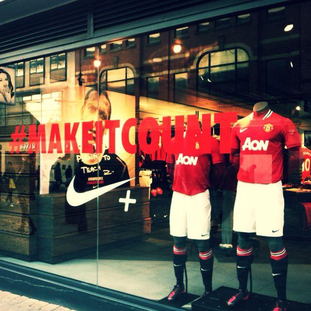 Man Utd shirts @ Nike Store
