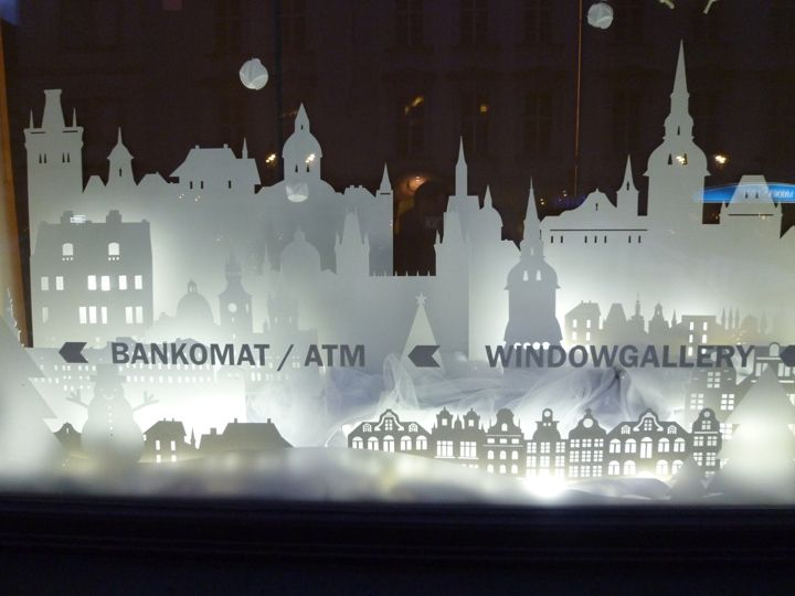 Unique Winter Window Display Ideas On Pinterest Christmas - Beautiful painted window silhouettes interact outside world