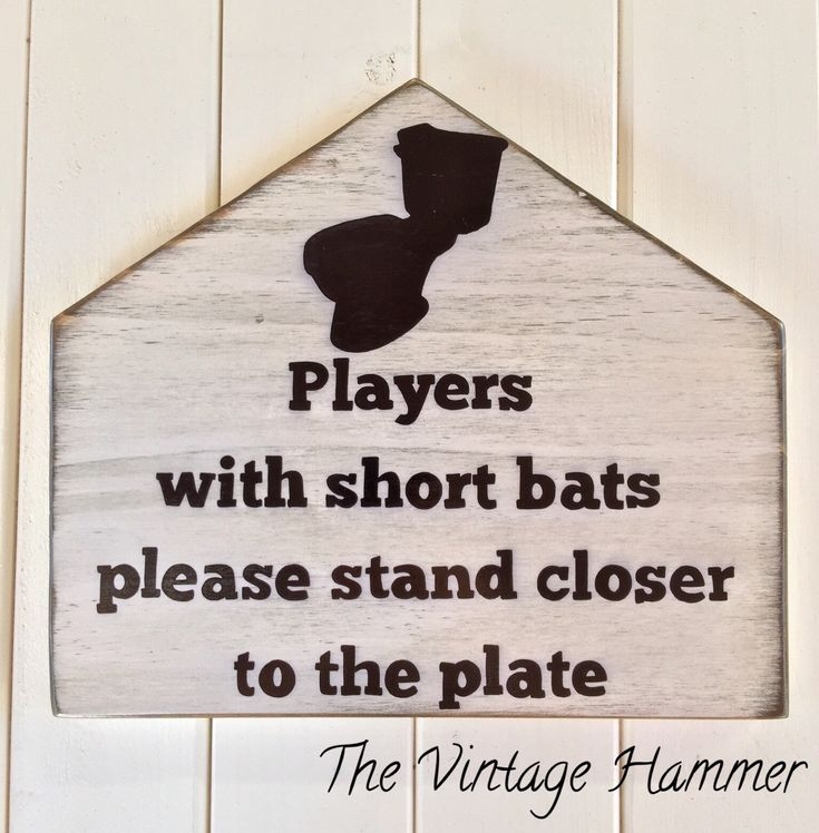 A personal favorite from my Etsy shop https://www.etsy.com/listing/257303394/baseball-sign-bathroom-sign-wood-sign