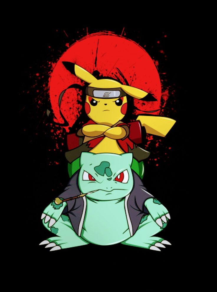 Itachi Wallpaper Iphone X Pikachu Amp Bulbasaur Naruto Pokemon Pikachu Art