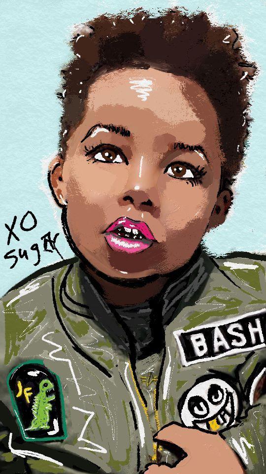 Amber Rose son Bash DigitalOil Painting xo tormentedsugar