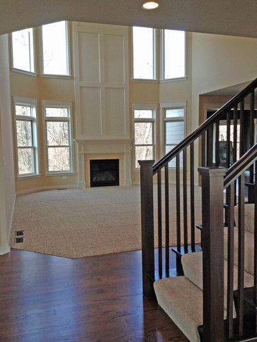 Story Foyer And Great Room : Best ideas about two story fireplace on pinterest