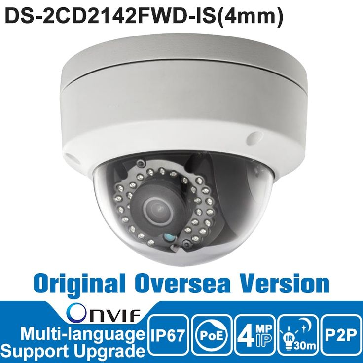 96.00$  Buy now - http://alia3u.worldwells.pw/go.php?t=32755200228 - Hik IP Camera 4MP DS-2CD2142FWD-IS 4mm P2P IP Camera Poe Security Camera Outdoor CCTV Camera English Version