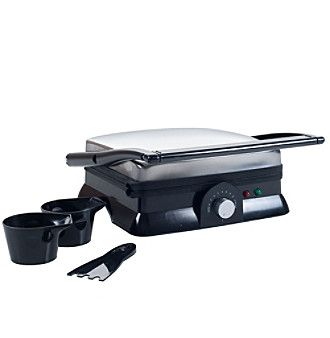 Chef Buddy Electric Panini Press Indoor Grill and Gourmet Sandwich Maker With Nonstick Plates