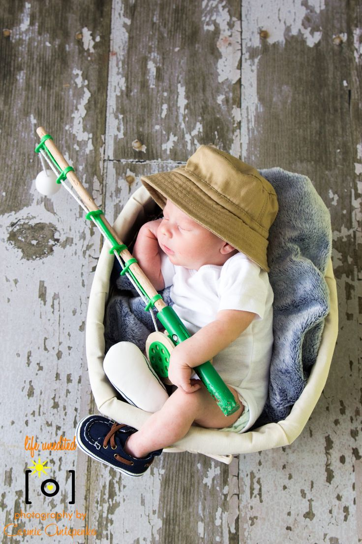 Gone Fishing newborn boy Life Unedited Photography