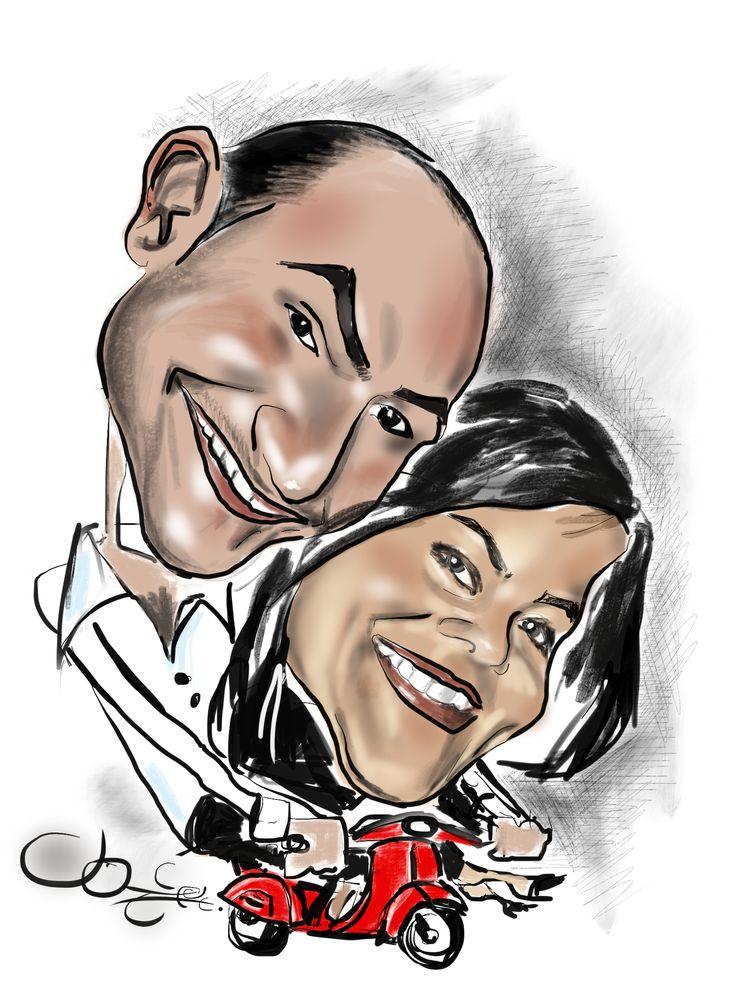 un caricatura ai fidanzati! www.latuacaricatura.it