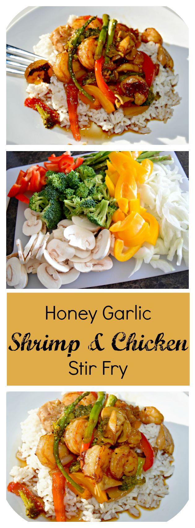 Honey Garlic Shrimp & Chicken Stir Fry